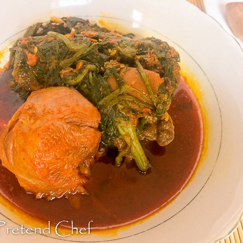 Omi Obe (Stew) and efo