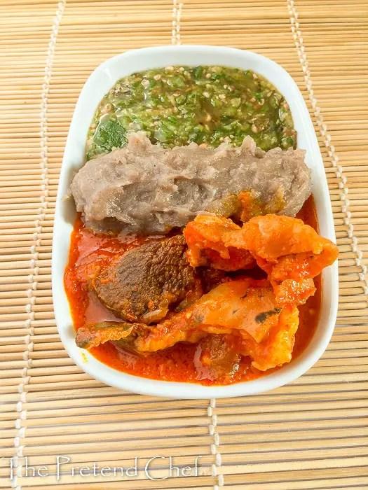 Fresh Plain okro soup with Omi Obe and Amala