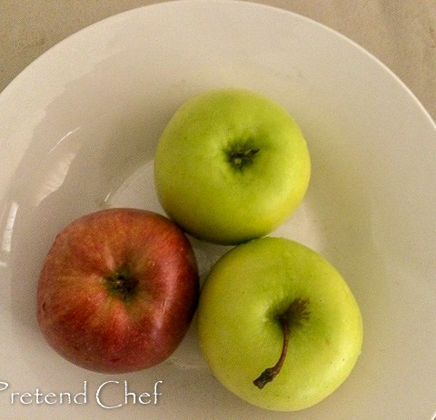mix of apples for easy apple hand pie
