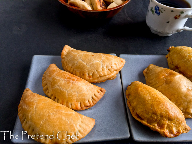 Flaky baked empanada