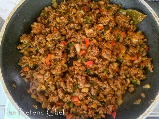 Minced beef Empanada filling