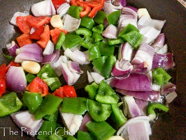 vegetables and herbs for Simple Sofrito
