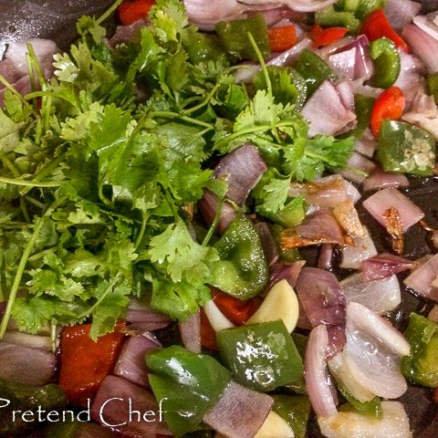 vegetables frying for Simple Sofrito