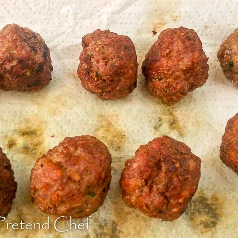 meat balls for pizza muffin