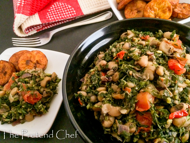Very comforting and healthy Nigerian Greens and beans