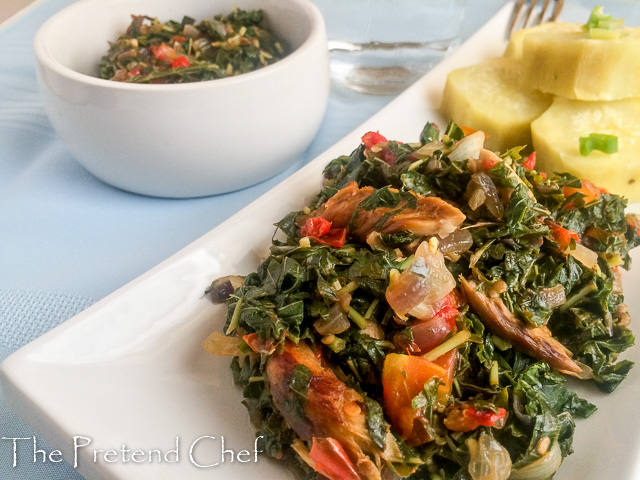 Healthy, flavourful and fresh smoked fish with greens