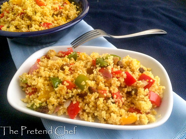 Healthy and light Couscous with bell peppers