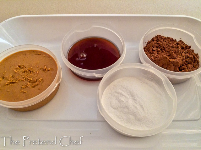 ingredients for chocolate peanut butter