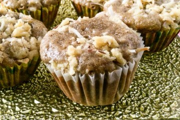 Soft, sweet, moist & flavourful Healthy mango muffin with coconut crumb