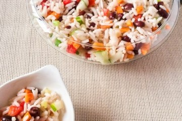 Healthy, light and Simple Rice Salad