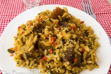 Spicy Egusi jollof rice