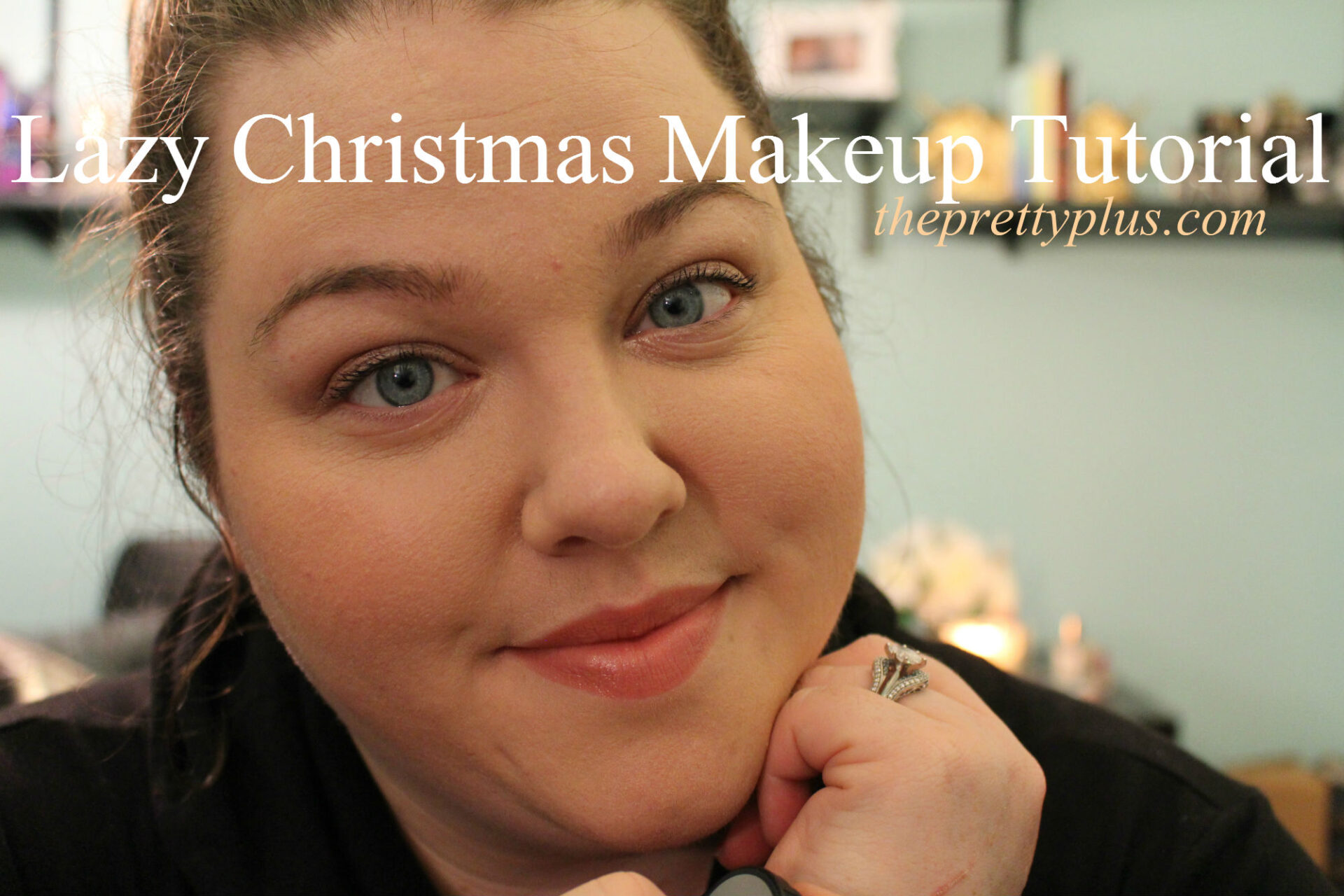 lazy christmas day makeup tutorial video