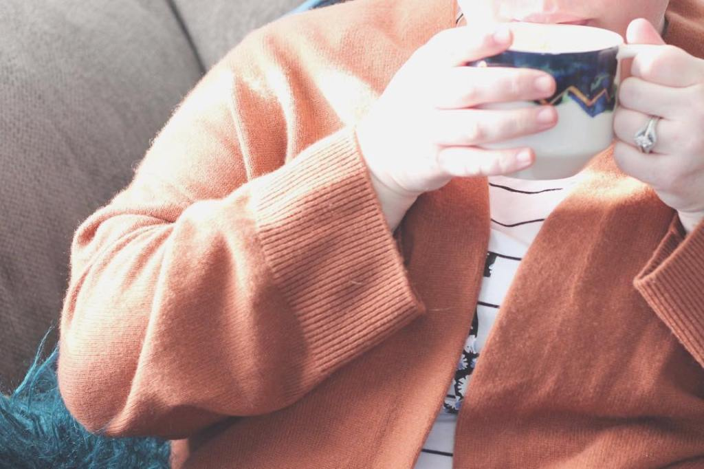 Cashmere cardigans amp cozying up with a Starbucks Pumpkin Spicehellip
