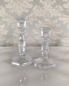 clear glass candlestick hire nz