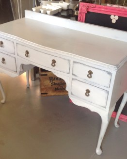 grey queen anne dresser hire