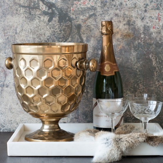 BRASS CHAMPAGNE COOLER HIRE NZ