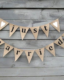 just married bunting rental