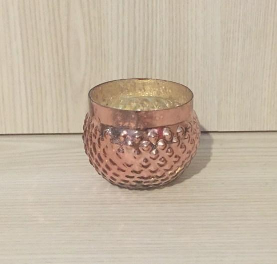 rose gold mercury glass tealight holder hire auckland new zealand