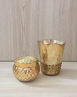 gold mercury glass tealight holder hire auckland new zealand