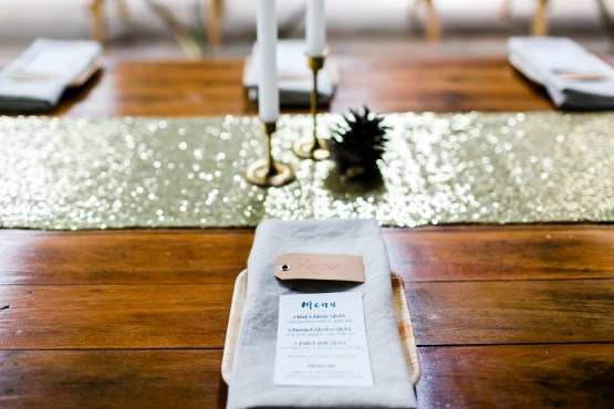 sequin table runner natural napkin hire nz