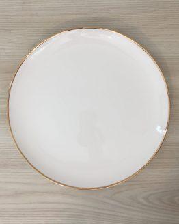 gold rim dinner plate hire nz