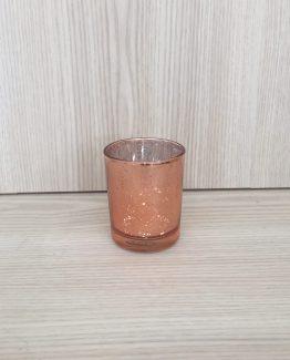 hire rose gold tealight holder