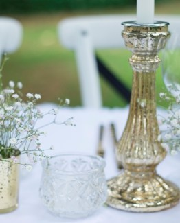 Candlesticks and Hurricane Lamps