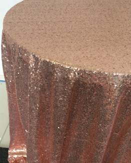 rose gold sequin tablecloth hire
