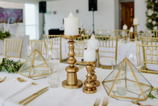 brass pillar candleholder hire nz