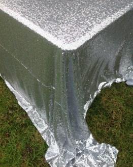 silver sequin tablecloth hire