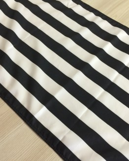 black and white stripe runner hire