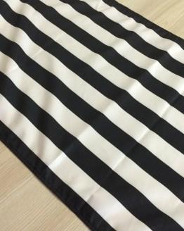 black and white stripe runner hire