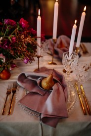 gold cutlery hire