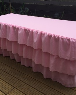 trestle tablecloth hire