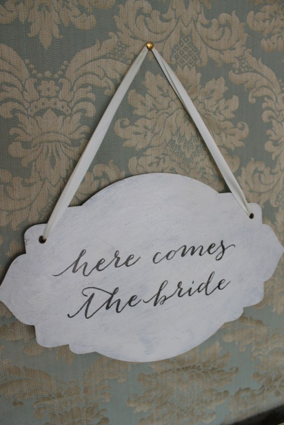 here comes the bride sign hire nz