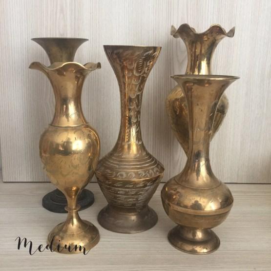vintage brass vase hire nz