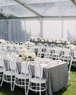 grey tablecloth hire nz