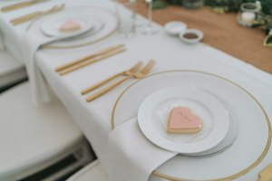 Gold Cutlery and charger plate hire nz