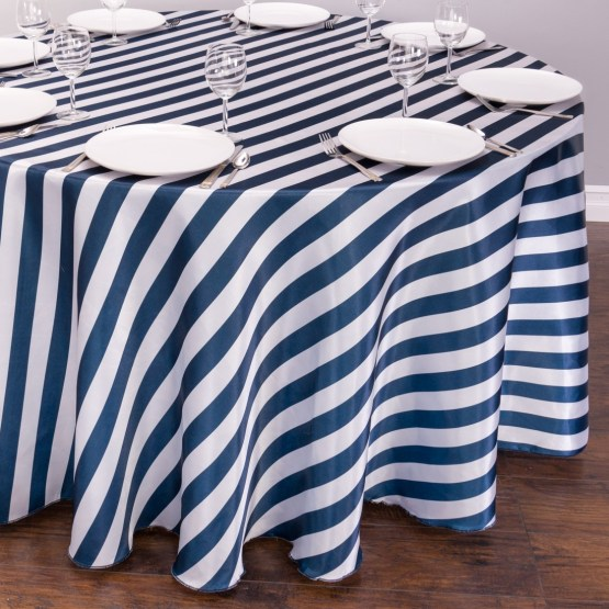 striped tablecloth hire nz