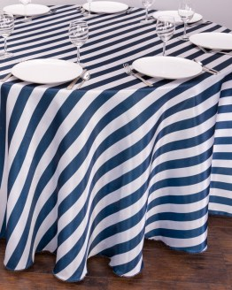 striped tablecloth hire nz