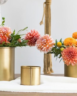 gold cylinder vases