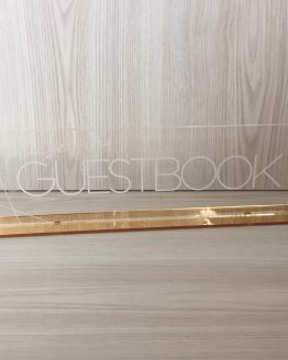 guestbook perspex sign hire nz