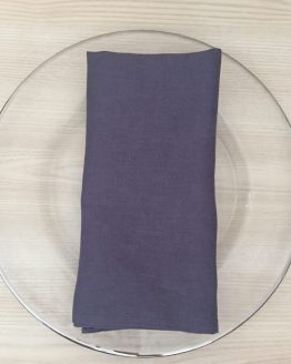 grey linen napkin hire