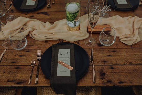 matte black dinner plate hire nz