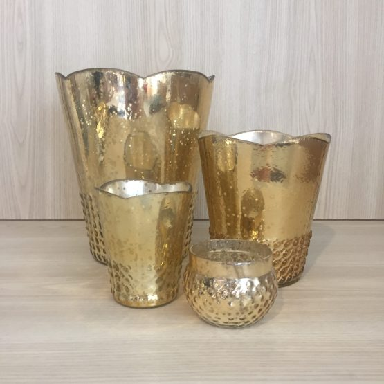 gold mercury glass hire