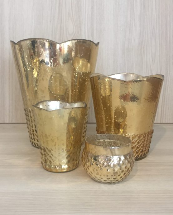gold mercury glass hire
