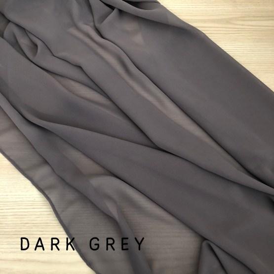 dark grey chiffon table runner