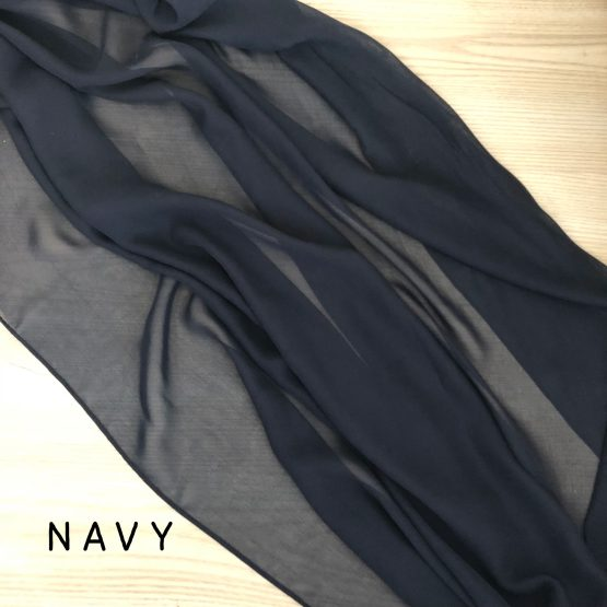 navy chiffon table runner
