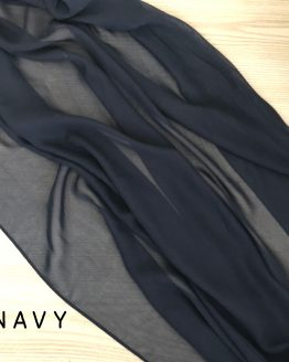 navy chiffon table runner