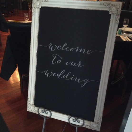 baroque chalkboard hire nz